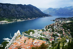 Landschaft von Montenegro, Kotor Lizenzfreies Stockfoto