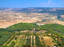Landschaft von Montescaglioso. lizenzfreie stockfotos