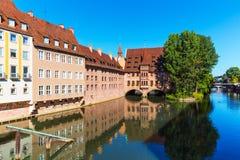 Landschaft von Nürnberg, Deutschland Lizenzfreie Stockfotografie