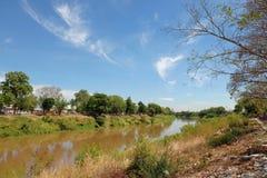 Landschaft von Nan-Fluss bei Pitsanulok Stockfotos