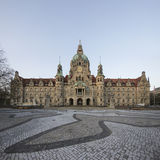 Landschaft von neuen Rathaus in Hannover, Deutschland Stockfotografie
