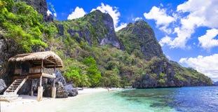 Landschaft von Palawan (Philippinen) stockfotos