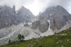 Landschaft von Pale di San Martino, Trentino - Dolomit, Italien lizenzfreies stockfoto