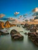 Landschaft von Pandak-Strand in Terengganu, Malaysia Lizenzfreies Stockfoto