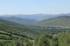 Landschaft von Park City Utah Stockbild