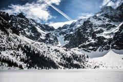 Landschaft von polnischen Bergen Tatry im Winter Stockfotografie