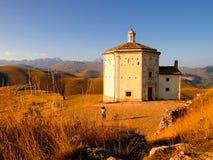 Landschaft von Rocca Calascio, Abruzzo Stockfotografie