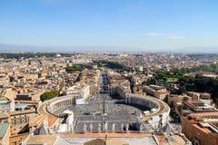 Landschaft von Rom stockfotos