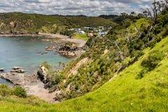 Landschaft von Russell nahe Paihia, Bucht von Inseln, Neuseeland lizenzfreie stockbilder