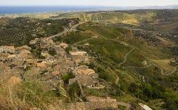 Landschaft von Süd-Italien, Kalabrien, Gerace stockfotografie