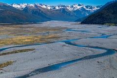Landschaft von Südinsel von Neuseeland Stockfotografie