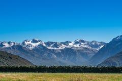 Landschaft von Südinsel von Neuseeland Lizenzfreie Stockfotografie