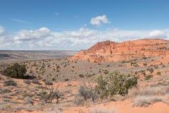 Landschaft von Südkojote Buttes Lizenzfreie Stockfotografie