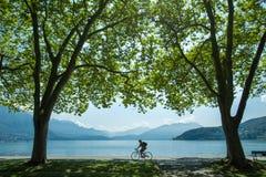 Landschaft von See Annecy frankreich Lizenzfreie Stockfotografie