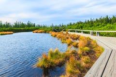 Landschaft von See auf Berg Stockfotos