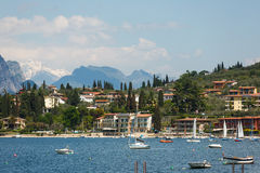 Landschaft von See Garda Stockbilder