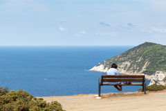 Landschaft von Skiathos lizenzfreie stockbilder
