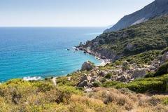 Landschaft von Skiathos stockbilder