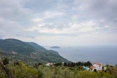 Landschaft von Skopelos lizenzfreie stockfotografie