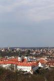 Landschaft von Strahov-Kloster Lizenzfreie Stockfotos