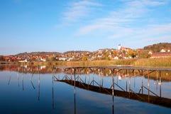 Landschaft von Tihany im Herbst in See Balaton Lizenzfreies Stockfoto