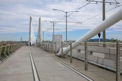Landschaft von Tilikum-Überfahrt, Brücke in Portland lizenzfreie stockfotografie