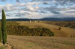 Landschaft von Toskana Stockbild