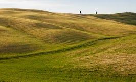 Landschaft von Toskana, Italien stockbild