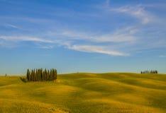 Landschaft von Toskana, Italien stockfotos