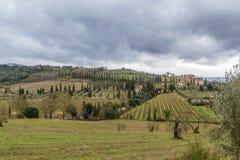 Landschaft von Toskana, Italien Lizenzfreie Stockfotos
