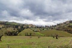 Landschaft von Toskana, Italien Stockfotografie