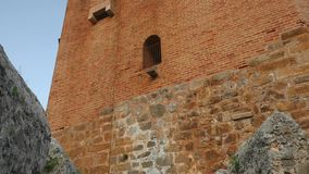 Landschaft von Turm Kizil Kule in Alanya-Halbinsel, Antalya-Bezirk, die Türkei, Asien stock video footage