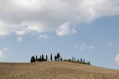 Landschaft von val d-orcia stockfoto