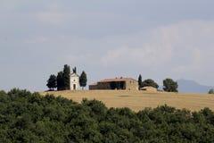 Landschaft von val d-orcia stockfotos