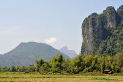 Landschaft von vang vieng Stockbilder