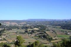 Landschaft von Weinbergen in Provence, Süd-Frankreich Stockbild