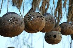 Landschaft von wuzhizhou Insel: Kokosnussfertigkeiten Stockbild