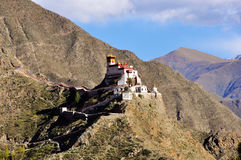 Landschaft von Yumbulagang-Palast, Tibet stockbild