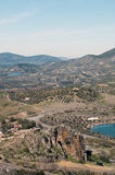 Landschaft von Zahara in der Vertikale Lizenzfreies Stockfoto