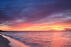 Landschaft während des Sonnenuntergangs Stockfoto