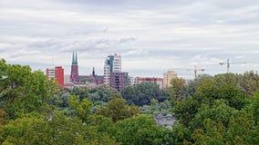 Landschaft in Warschau, Polen Lizenzfreie Stockfotos