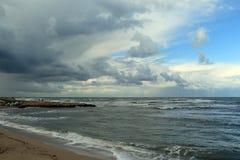 Landschaft - Wolken auf dem Mittelmeer Lizenzfreies Stockfoto