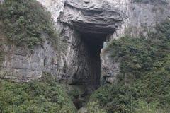 Landschaft in Wulong Tiankeng drei Brücken, Chongqing, China lizenzfreies stockbild