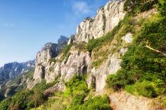 Landschaft Yandangshan China Stockfotografie