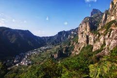 Landschaft Yandangshan China Stockbild