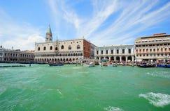 Landschaft zum Palast des Doges in Venedig stockbild