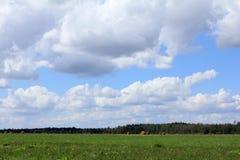 Landschaft zur Erntezeit Stockbilder