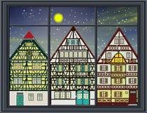 Landschaft zur Winterzeit Stockbilder