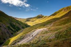 Landschaften der oberen Khevsureti-Region in Georgia stockfoto