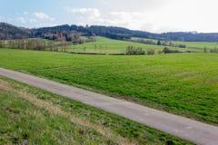 Landschaften der Ost- Zeit an der ländlichen Landschaft in Süd-Deutschland Lizenzfreie Stockfotos